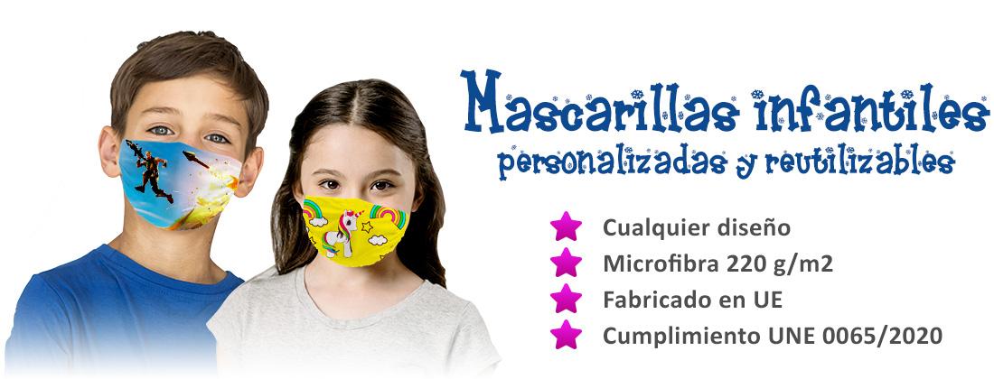 Mascarillas reutilizable para niños