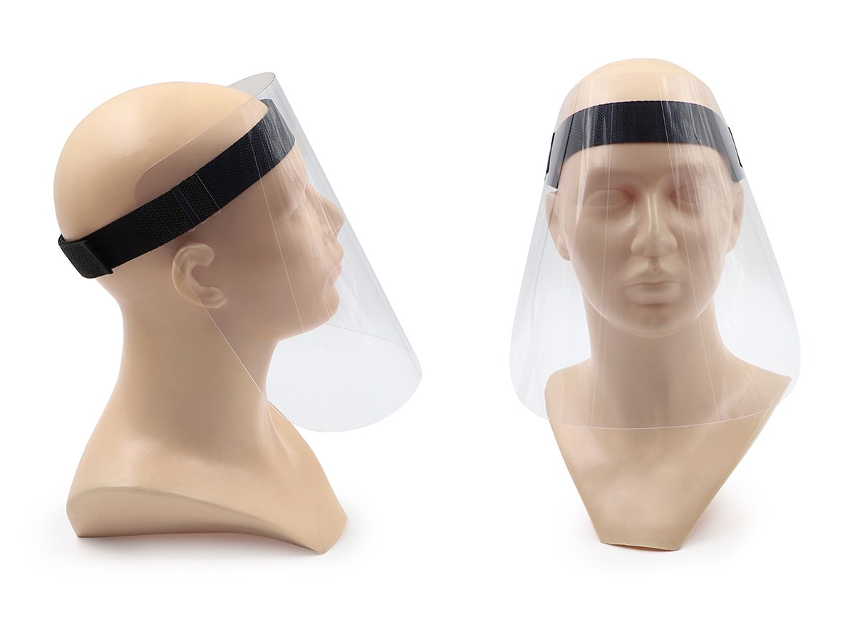 Pantallas faciales anti-contagio ajustables